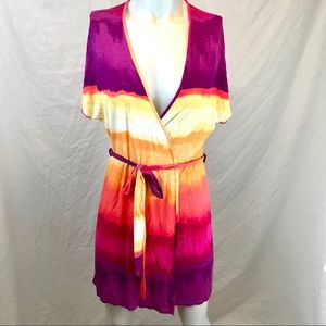 Linea Donatella Ombré Wrap Dress / Robe